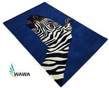Designer Teppich 120X180 CM Handarbeit ~ 100% Wolle - Handgetuftet Zebra - Hand