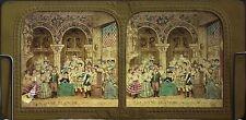 Théâtre La Dame Blanche 2e acte S. IV BK Paris Stéréo Diorama Tissue Vintage