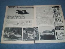 "1964 Vintage Race Team Info Article ""What Ever Happened to Ecurie Ecosse?"""