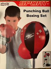 Sport Boxing Set Punching Ball with Gloves - for Kids, Adjustable
