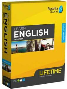 Rosetta Stone - Learn UNLIMITED Languages with Lifetime access, English American