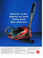 PUBLICITE ADVERTISING 045  1996  HOOVER   aspirateur ALPLINA