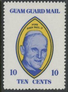 GUAM GUARD MAIL LABEL, MINT, #10¢ BLUE/YELLOW, NG, EXCELLENT CENTERING