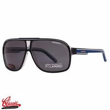 Carrera Polarized Grand Prix 2 T5C M9 Shiny Black Blue Frame Grey Sunglasses