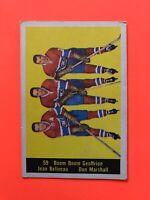 Geoffrion Beliveau Marshall 1960-61 Parkhurst #59  Vintage Hockey Card