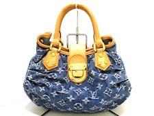 Authentic LOUIS VUITTON Monogram Denim Pleaty M95020 Blue Handbag VI1025