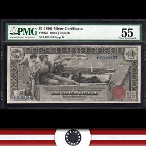 "1896 $1 SILVER CERTIFICATE BILL PMG 55  ""EDUCATIONAL NOTE"" Fr 225   40918648"