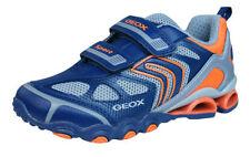Chaussures bleus moyens à attache auto-agrippant en cuir pour garçon de 2 à 16 ans