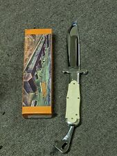 """Vintage Marbles Collectible Folding Knives M.S.A.5"""" folder white game scene 1998"""