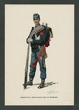 o. Farblitho K.u.K. Infanterie 4. Rgt. Hoch- und Deutschmeister Wappen Adel 1888
