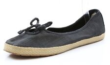 Women UGG Australia Syleste Black Fabric Ladies Ballet Flats Size 9.5 1008397