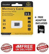Cloudisk 32gb Micro SD Card SDHC Class 10 Phone, Camera , Music with Adapter