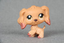 LPS#716 Cocker Spaniel Puppy Dog Dipped Brown Flower Eyes Collection Figure Toy