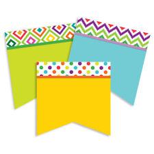 EU 841346 A Sharp Bunch Flag Pennant Cut Outs Classroom Decorations