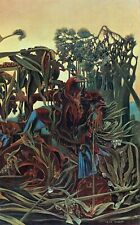 Max Ernst-Detail of Song of the twilight Poster or Canvas Premium A4-A0