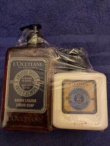 L'Occitane Liquid Soap, SWEET ALMOND 500ml & lotion 300ml -  Brand New