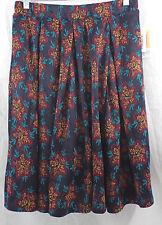 Womens LuLaRoe Madison Box Pleat Skirt SMALL Pocket Navy Red Yellow Blue NWT