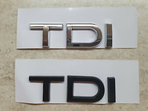 TDI car rear Emblem sticker for Audi A1 A3 A4 A5 A6 A6L A7 A8 S3 S6 Q3 Q5 Q7 TT