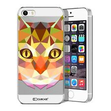Coque Housse Etui Pour iPhone 5 / 5S / SE Polygon Animal Rigide Fin  Chat