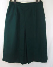 """Green 100% Wool Skirt Vintage """"Items by Charlotte Ford"""" 30"""" Waist"""