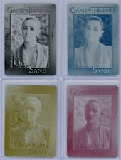 Game of Thrones Season 7 Keisha Castle-Hughes as Obara Sand Printing Plate Set