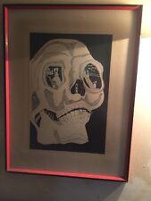 skull art canvas
