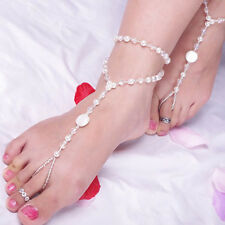 Jewelry Pearl Anklet Chain Barefoot Sandal Bridal Beach Ankle Bracelet
