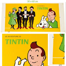 TINTIN - AFFICHE ANNI 70 - GANDUS - 30 x 60 cm - MANIFESTO POSTER - HERGE - TIN