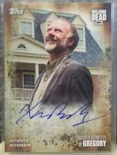 WALKING DEAD 2017 TOPPS AUTHENTIC AUTOGRAPH XANDER BERKELEY AS GREGORY HOT HOT!!