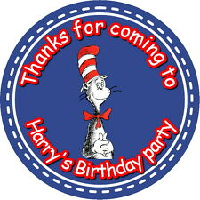 DR SEUSS CAT IN THE HAT CHILDREN'S PARTY STICKERS, SEALS LABELS