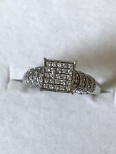 Cz Engagement Ring 925 Sterling Silver