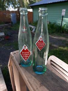 2, Vtg RC Royal Crown Cola Soda Bottles Green 10oz