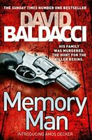 Memory Man (Decker and Lancaster) by Baldacci, David, Paperback Used Book, Good,