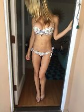 NEW Agent Provocateur Pink Vintage Retro Amy Lee Pin Up Bikini Bra Top 32A UK 6