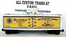 Lionel O Scale 3 Rail Custom Lettered Alaska Rr Canery Collectible Reefer Lot