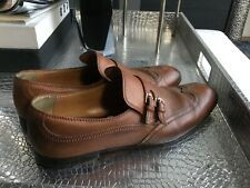 Gucci Mens Brown leather loafers - US size 13 1/2