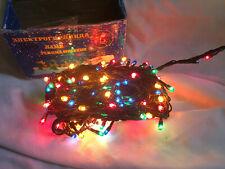 VINTAGE 180 Multicoloured CHRISTMAS TREE STRING LIGHTS  Various settings NEW