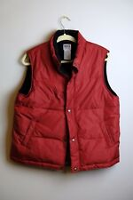 Roots Athletics Canada Red Goose Down Puffer Vest Mens Large