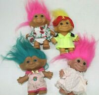 TROLL doll lot of 4 girls 2 boys 2 all 4 inches tall great condition       TRO7