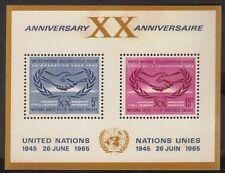 United Nations New York Scott # 145 Souvenir Sheets M OG NH