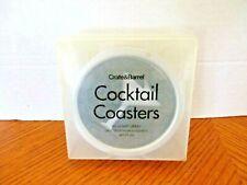 Set of Six Martini Themed Coasters-Recycled Rubber & Aluminum - Crate&Barrel-NIB