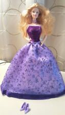 Barbie Doll in Beautiful Purple Evening Gown with Shoes - Deboxed