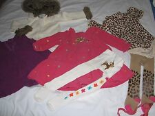 LOT OF 7 INFANT GIRLS CLOTHES, 12-18-MONTHS, GYMBOREE,first impressions play,