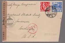 1940 Batavia Netherlands Indies Censored Cover to USA