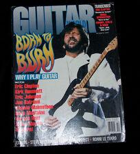 Guitar World Magazine 1992 Why I Play with Clapton, Hammett, Satriani, Malmsteen