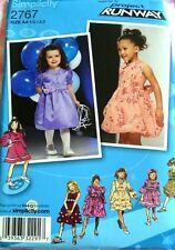 Simplicity 2767 Little Girl Dress with Bubble Skirt Pattern ½-3