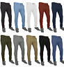Mens Chino Trousers Skinny Fit Stretch Jeans westAce Cotton Casual Pant