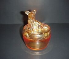 Jeannette Merigold Depression Glass Scottie Scotty Dog Powder Jar Box