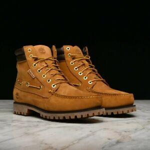 Timberland OAKWELL Wheat Leather 7-Eye Lace Up Moc Toe Boots Men's Size 11