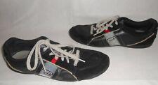 mens Diesel black leather  trainers size UK10 EU44